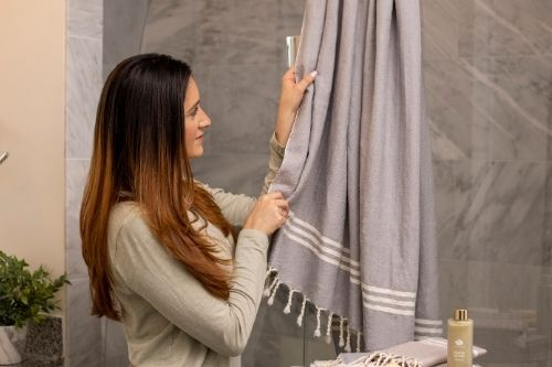 Turkish bath towel. Client Gift. Luxury Branded Corporate Gifts